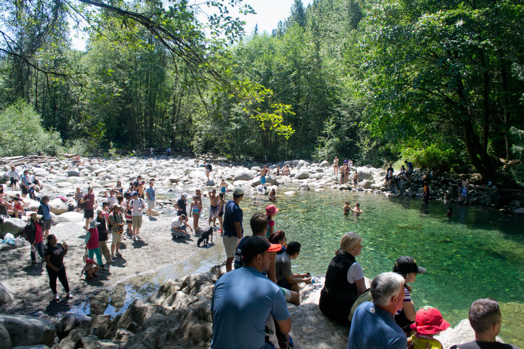 So many people at this swimming hole!