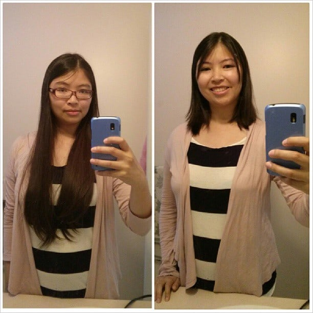 Before and after. A big change!