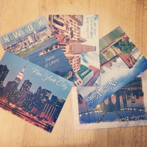 Postcards to be sent around the world from NYC. Do you still send these?