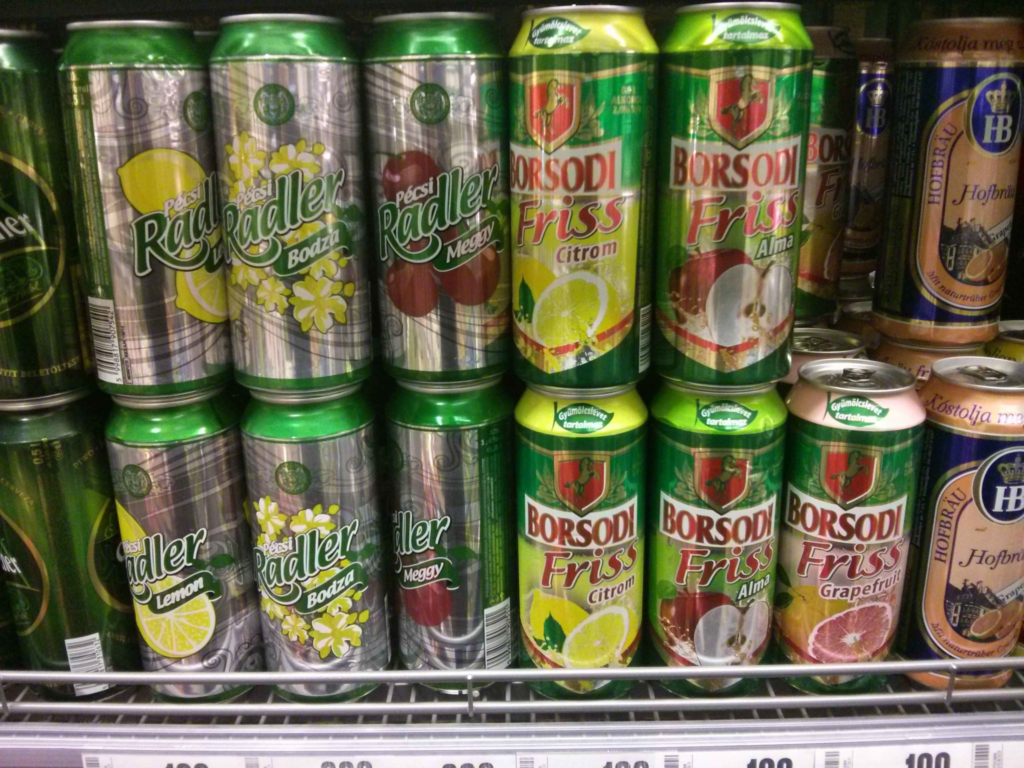 Fruit Beers In Hungarian Supermarket Pack Me To
