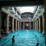 Inside Gellert Baths in Budapest