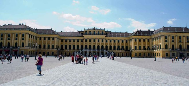 Pretending to Be Royalty at Schonbrunn Palace in Vienna