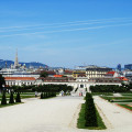 The Belvedere Gardens in Vienna