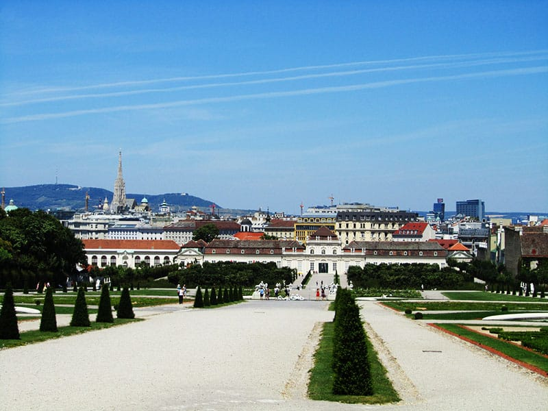The Belvedere Gardens in Vienna | packmeto.com