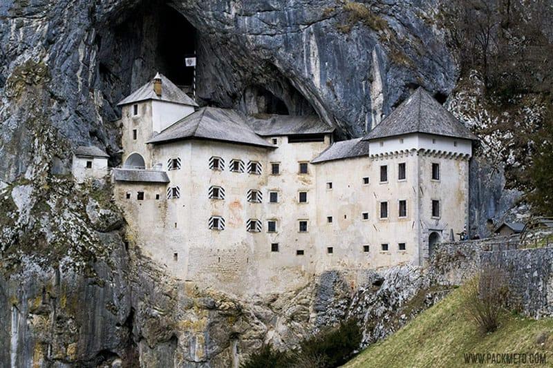 Predjama Castle Slovenia on Castle Portcullis