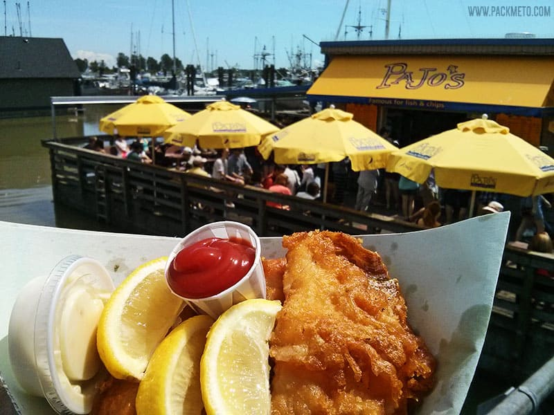 Pajo's Fish and Chips Steveston | A Perfect Day in Steveston Village, Richmond BC | packmeto.com