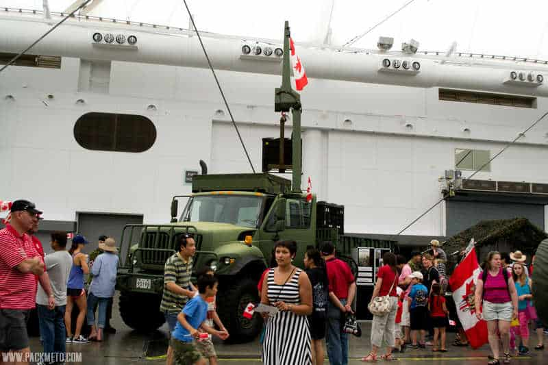 Army trucks | Celebrating Canada Day in Vancouver | packmeto.com