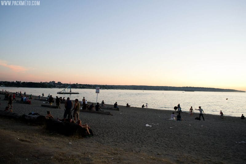 English Bay Beach Sunset