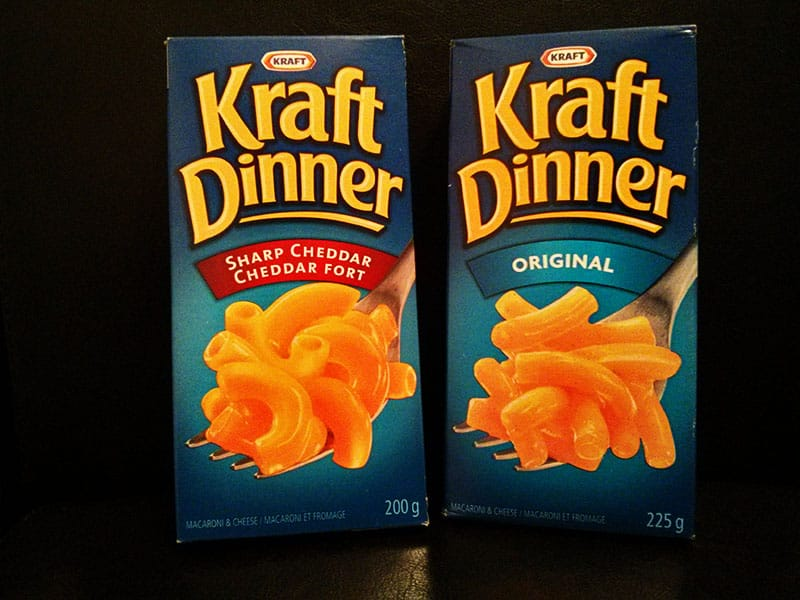 Kraft Dinner Macaroni and Cheese | 25 Things You Didn't Know About Canada | packmeto.com