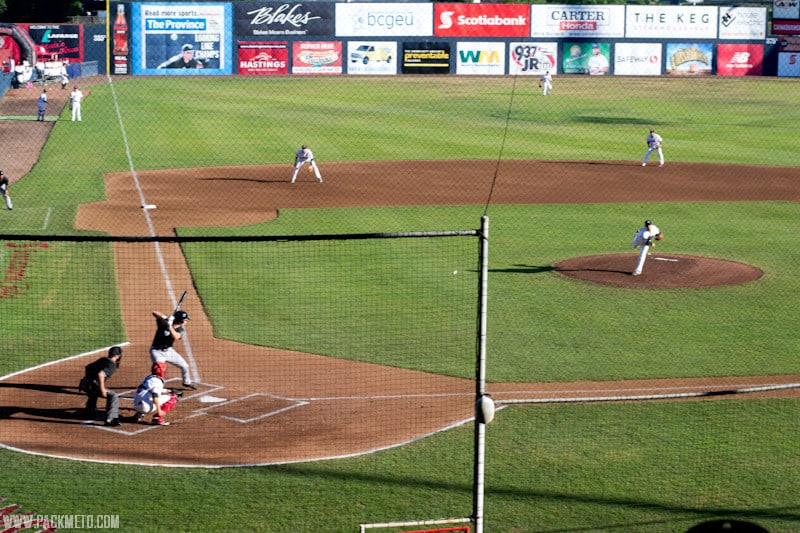 Vancouver Canadians Baseball First Pitch