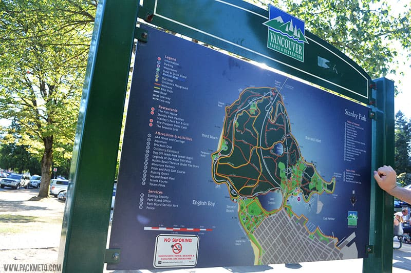 Vancouver Stanley Park Map | 25 Things You Didn't Know About Canada | packmeto.com