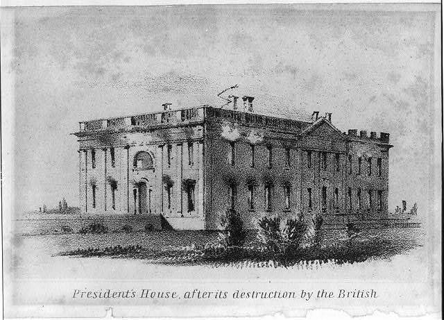 White House After Fire War of 1812 | 25 Things You Didn't Know About Canada | packmeto.com