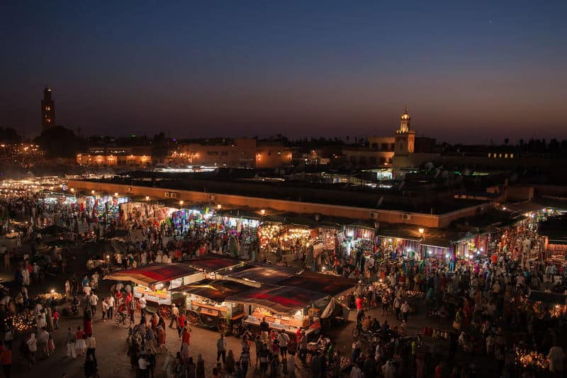 Overlooking Jemaa el-Fna // Photo: Grand Parc