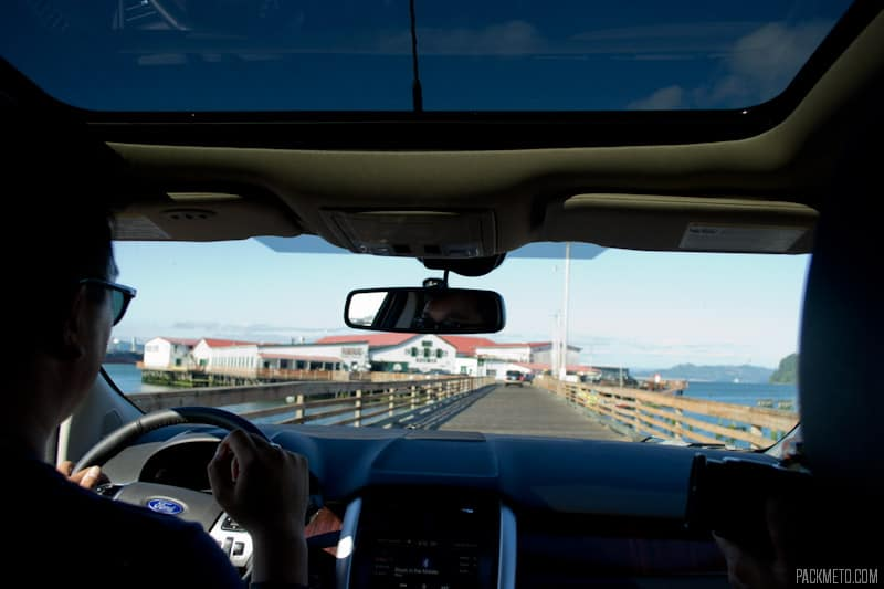 Driving out onto pier 39 | 3 Hours in Astoria Oregon | packmeto.com