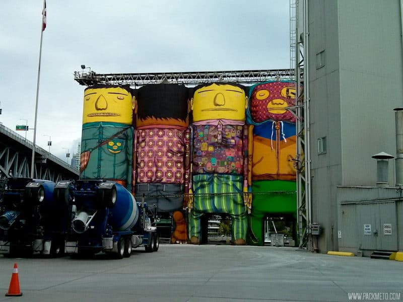 Osgemeos Silos Mural @ Granville Island - Art, Food and the Great Outdoors | packmeto.com