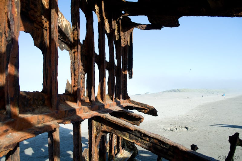 Peter Iredale Shipwreck Inside Looking Out | packmeto.com