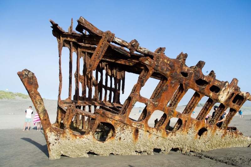 Peter Iredale Shipwreck Upclose