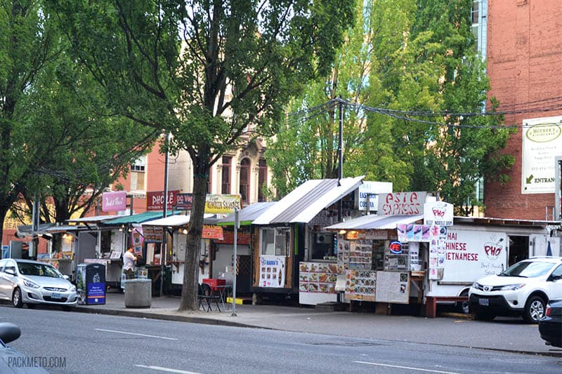 Portland Food Cart Pod - A Quick Tour Through the Portland Food Scene | packmeto.com