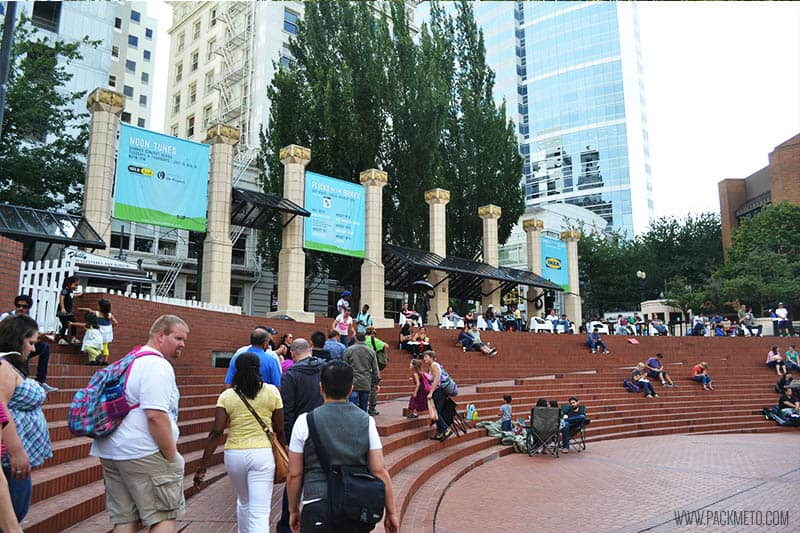 Portland Pioneer Courtyard Square | 7 Free Things To Do in Portland, Oregon | packmeto.com