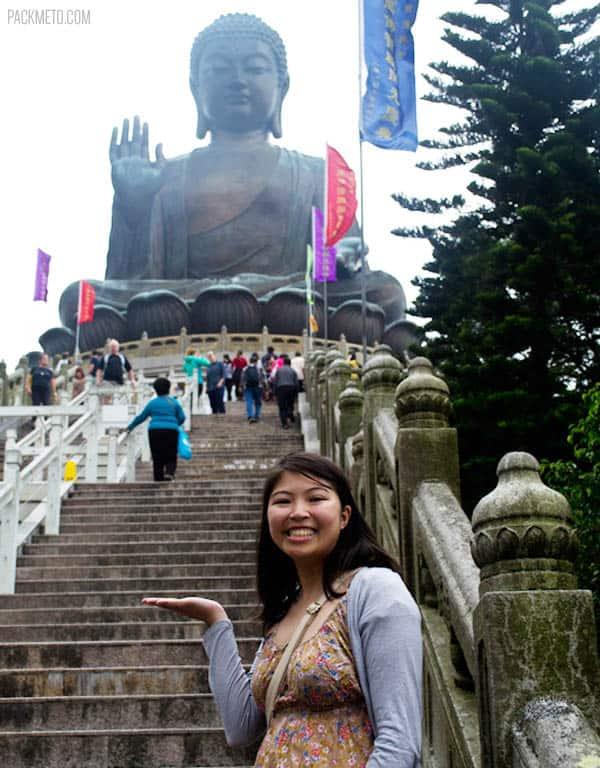 Adelina at Tian Tan Budhha, Hong Kong | packmeto.com