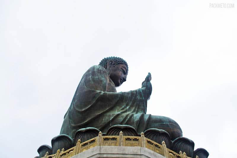 Tian Tan Buddha - From the Side