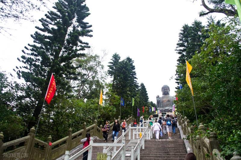 Tian Tan Buddha - Stairs to the top