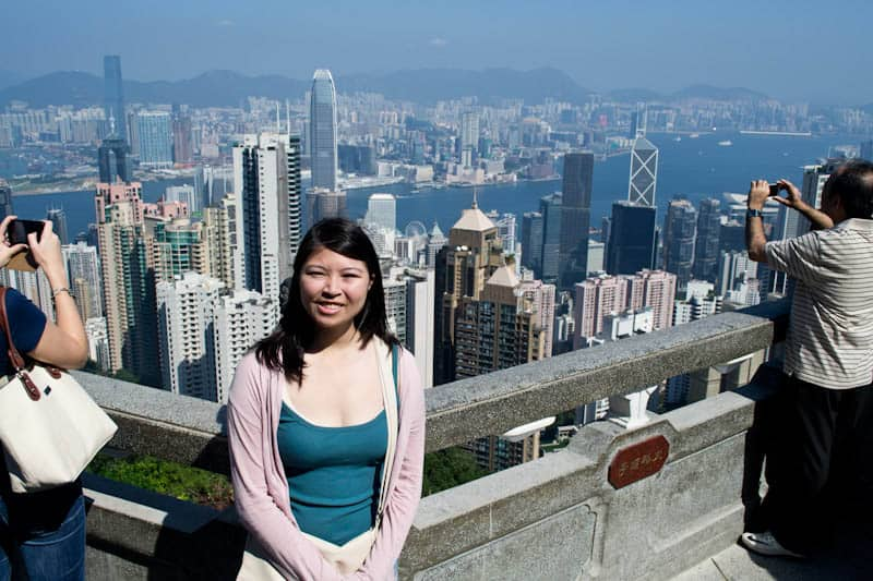Adelina at the Peak in Hong Kong