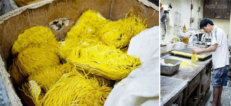 Hong Kong Foodie Tour - Making Fresh Noodles