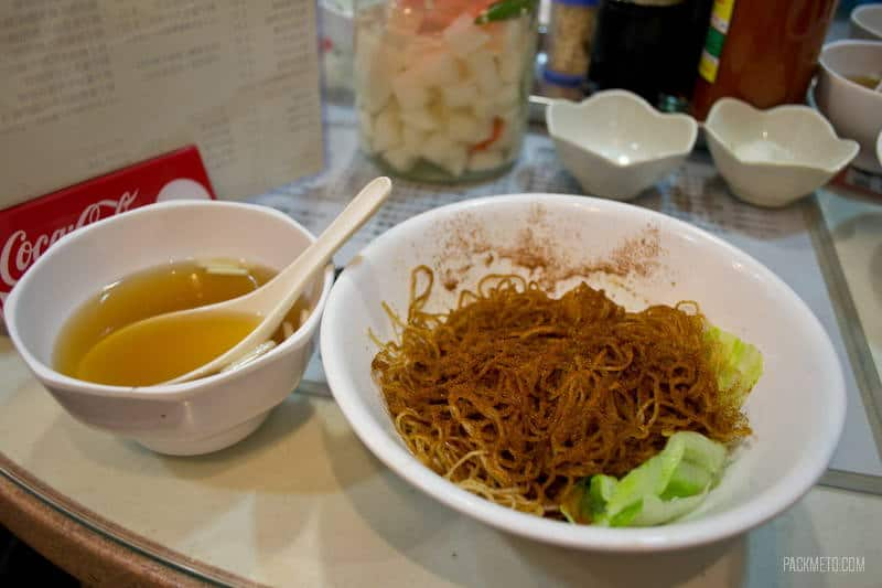 Hong Kong Foodie Tour - Shrimp Roe Noodles