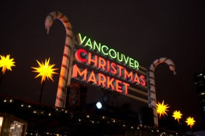 Vancouver Christmas Market - Welcome Sign