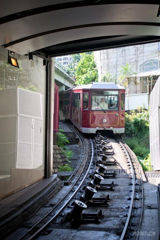 Approaching Tram - Hong Kong Victoria Peak