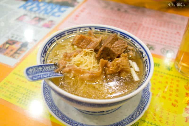 Hong Kong Beef Brisket Noodles at Mak's Noodle | 4 Must Eat Foods in Hong Kong - packmeto.com