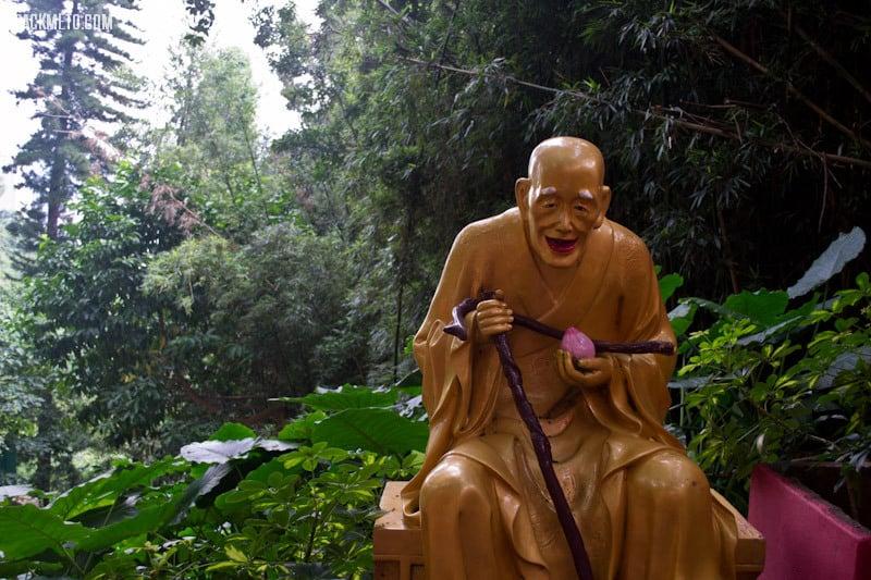 Old Man Statue - Ten Thousand Buddhas Monastery Hong Kong | packmeto.com