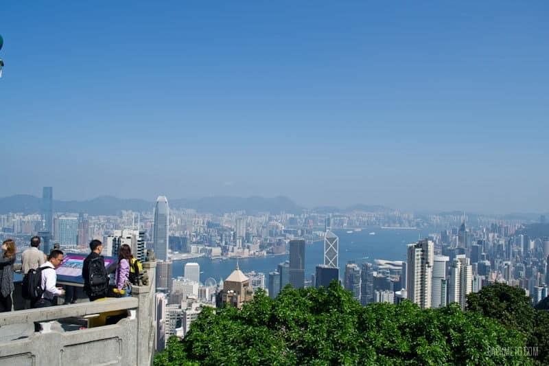 Overlooking Lions Point View - Hong Kong Victoria Peak - 7 Free Things to Do in Hong Kong | packmeto.com