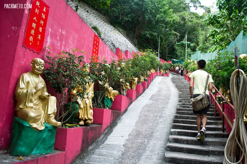 Path Up to the Ten Thousand Buddhas Monastery Hong Kong | packmeto.com
