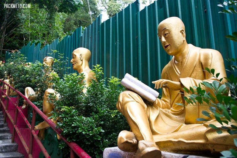 Reading Statue - Ten Thousand Buddhas Monastery Hong Kong | packmeto.com