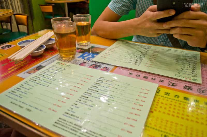 Bilingual Menus in Hong Kong