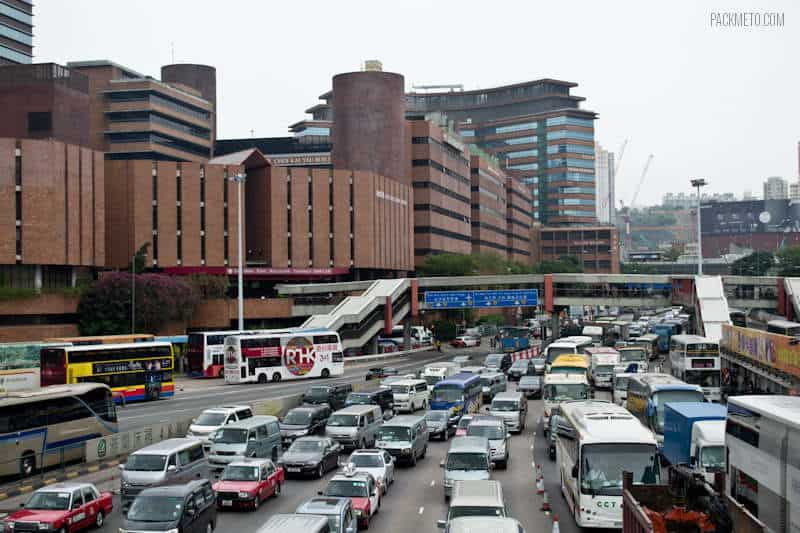 Crazy Traffic in Hong Kong