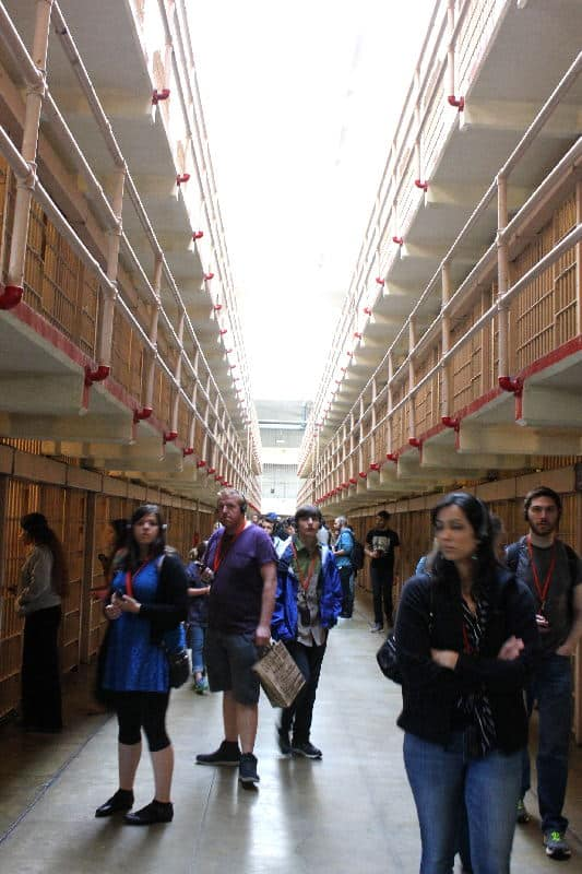 The Main Corridor nicknamed Broadway - Touring Alcatraz in San Francisco | packmeto.com