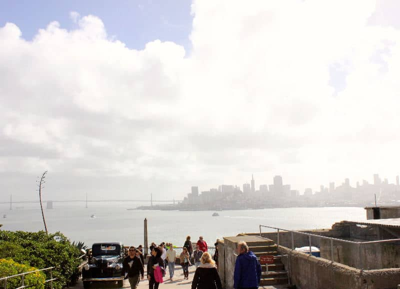 View from Alcatraz towards San Francisco - Touring Alcatraz in San Francisco | packmeto.com