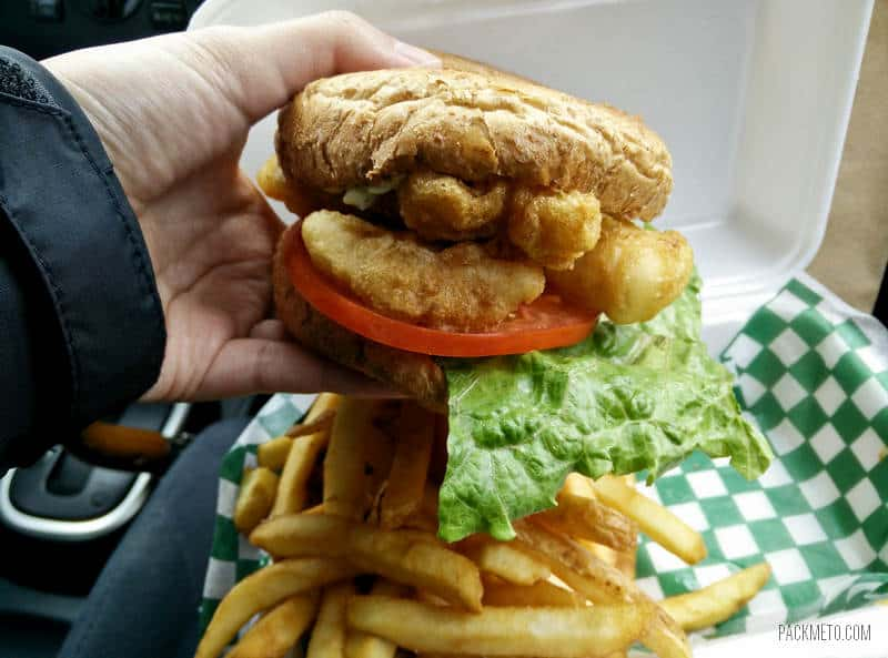 Big Daddy's Fish Fry Tofino - Fish Burger