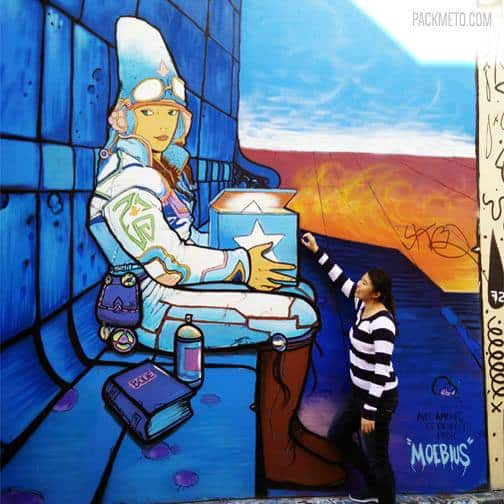 San Francisco Clarion Alley Mural Moebius