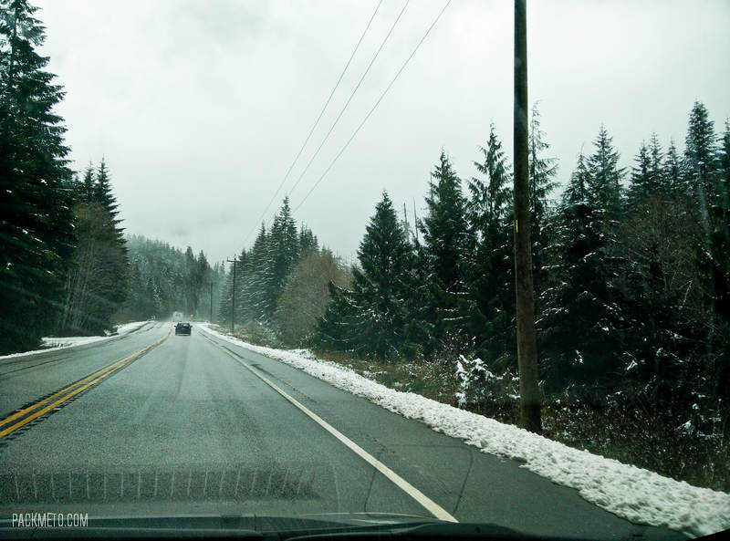 Snow on the Drive to Tofino