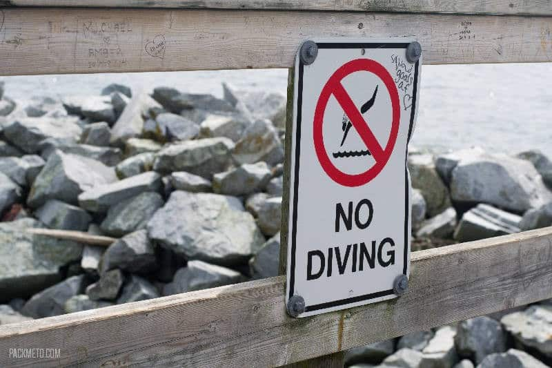 White Rock No Diving
