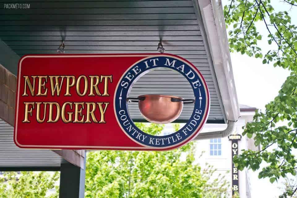 Newport Rhode Island Fudgery | packmeto.com