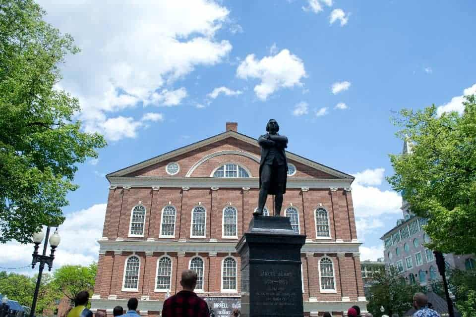 Boston Faneuil Hall Samuel Adams | packmeto.com