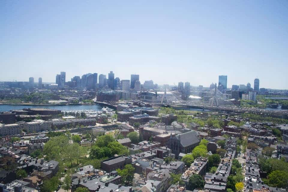 View from Bunker Hill Towards Downtown Boston | packmeto.com