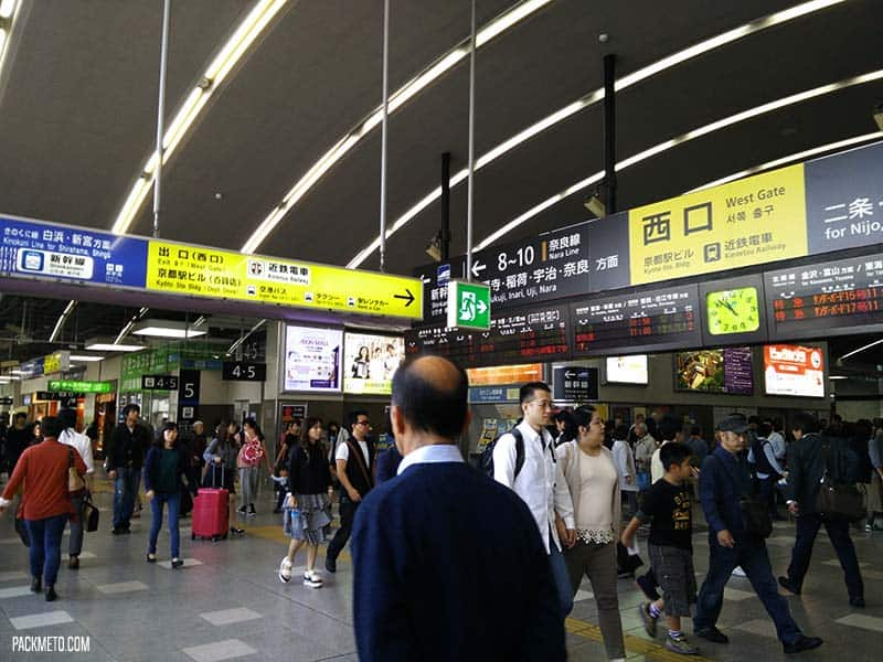 Inside Kyoto Train station | @packmeto