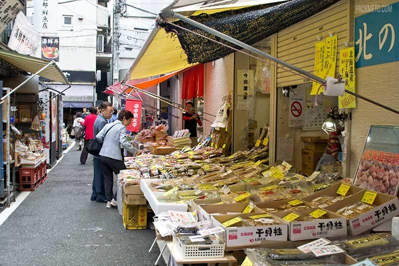 Tsukiji Fish Market Outer Market Stalls