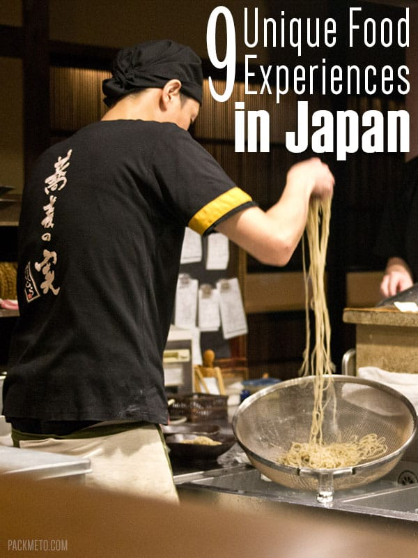 9 Unique Food Experiences in Japan | packmeto.com